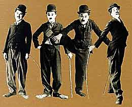 charlie chaplin little tramp 4 poses