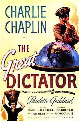 charlie chaplin great dictator 1940 movie poster
