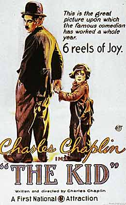 charilie chaplin the kid 1921 poster